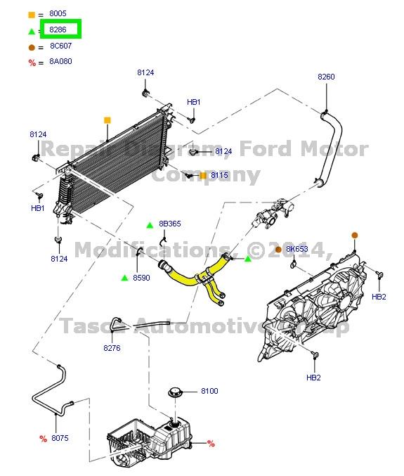 ford f150 radiator diagram new oem lower radiator hose 2011-13 ford f150 3.5l 3.7l w/super engine cooling   ebay 2006 ford e350 radiator diagram #7