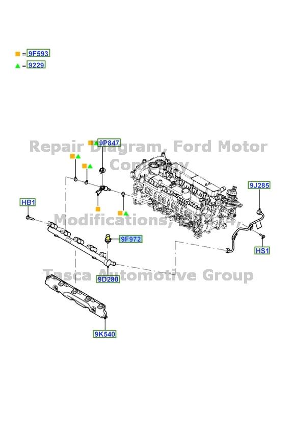 New Oem Fuel Injector Pressure Sensor 1 6l 2 0 L V4 Ford
