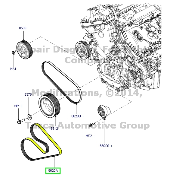 brand new oem engine serpentine belt 2011