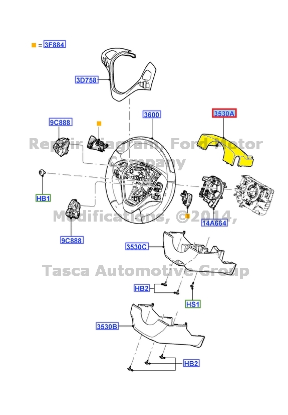 brand new oem upper steering column shroud 2011