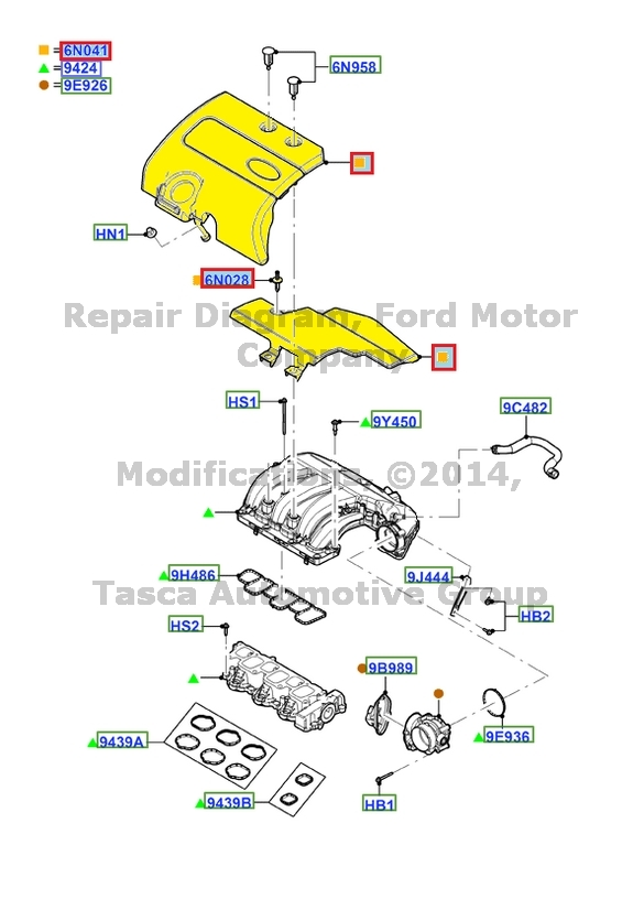 New Oem Intake Manifold Lower Insulator 201115 Ford Edge Lincoln. Ford. 2008 Ford Edge Intake Schematic At Scoala.co