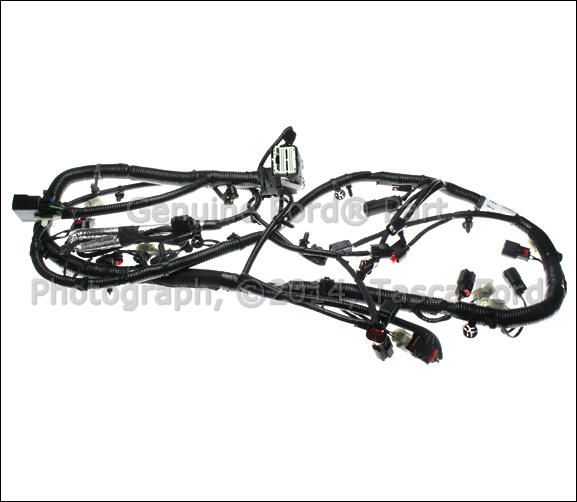 0 brand new oem main engine wiring harness ford mustang f150 5 0l Ford F-150 Rear Brake Caliper at webbmarketing.co