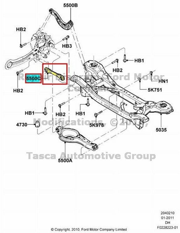 BRAND NEW OEM REAR SUSPENSION LOWER REAR TRAILING ARM 2012