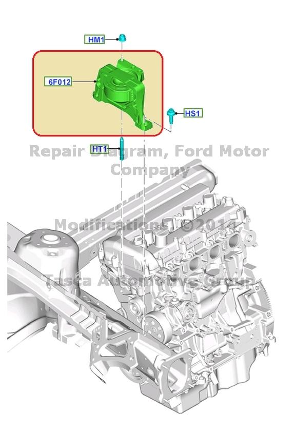 New Oem Engine Motor Mount Ford 20132015 Focus Escape 201415. Wiring. 2002 Escape Engine Diagram 2 5l At Scoala.co