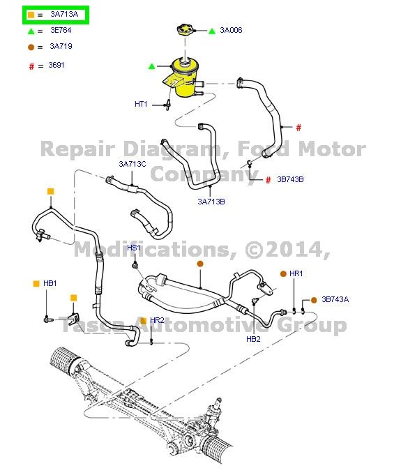new oem power steering fluid reservoir tank  u0026 cap expedition navigator f150
