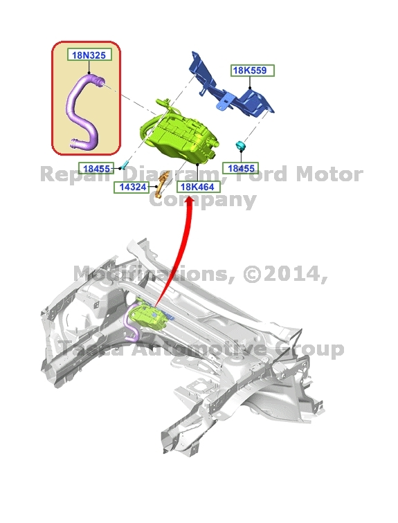 BRAND NEW OEM AUXILIARY HEATER WATER INLET HOSE 2013 FORD ...
