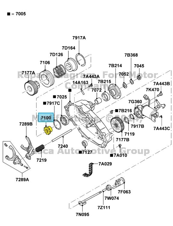 Brand New Oem Transfer Case Shift Lockup Collar Hub Ford Explorer
