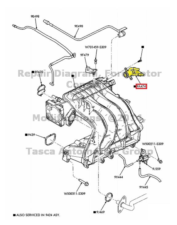 new oem intake manifold vacuum fitting  u0026 cap 1997 ford