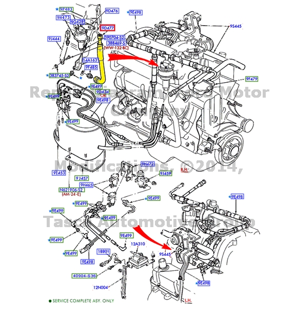 Brand New Oem Exhaust Gas Recirculating Egr Valve Tube Ford F5tz. Ford. 1994 Ford 460 Econoline Exhaust Diagram At Scoala.co