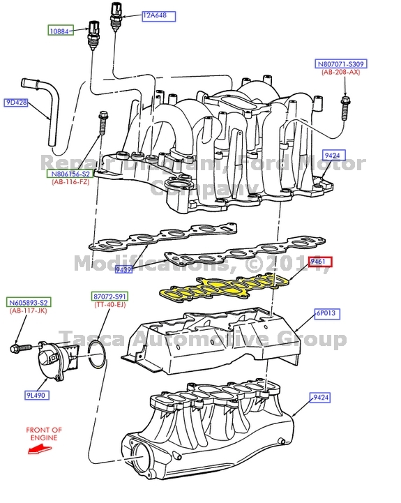Brand New Oem Intake Manifold Gasket 46l54l Ford Lincoln F65z9461ab: Ford 5 4l Engine Diagram At Executivepassage.co