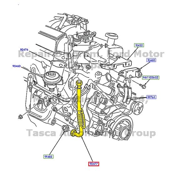 new oem egr valve to exhaust tube 1996 ford e150 f250 bronco 5 0l Ford 5.8L Engine Diagram new oem egr valve to exhaust tube 1996
