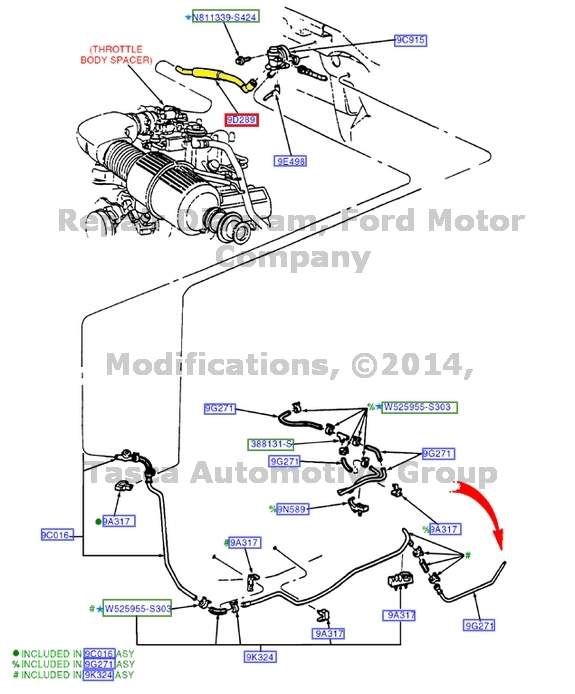 Pdf 94 Gmc Pickup Tail Light Wiring besides Watch as well Coolant Blowing Out Air Intake Nozzle 2684081 furthermore 1460587 Vacuum Lines moreover P 0900c15280089905. on f150 vacuum hose diagram