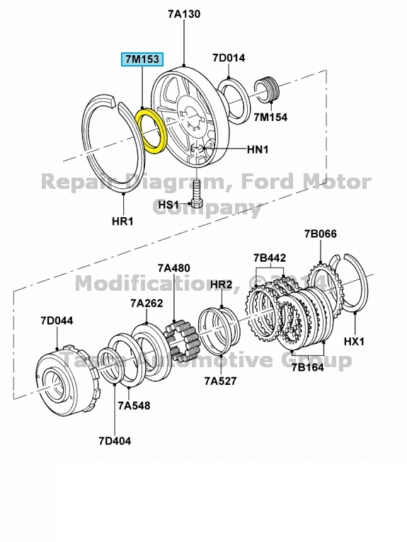 New Oem Transmission Thrust Bearing Ford Lincoln Mercury Vehicles