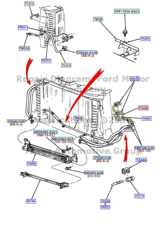 oem transmission oil cooler inlet tube   ford