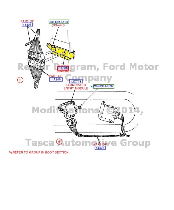 new oem fuse box holder wire wiring bracket e150 e250 e350