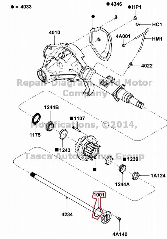 BRAND NEW OEM REAR AXLE SHAFT GASKET FORD F250 F350 F450