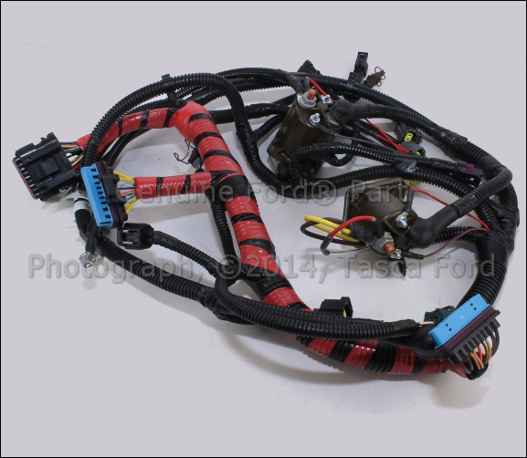 new oem main engine wiring harness ford excursion f250 f350 f450 rh ebay com ford wiring harness color codes ford wiring harness pins