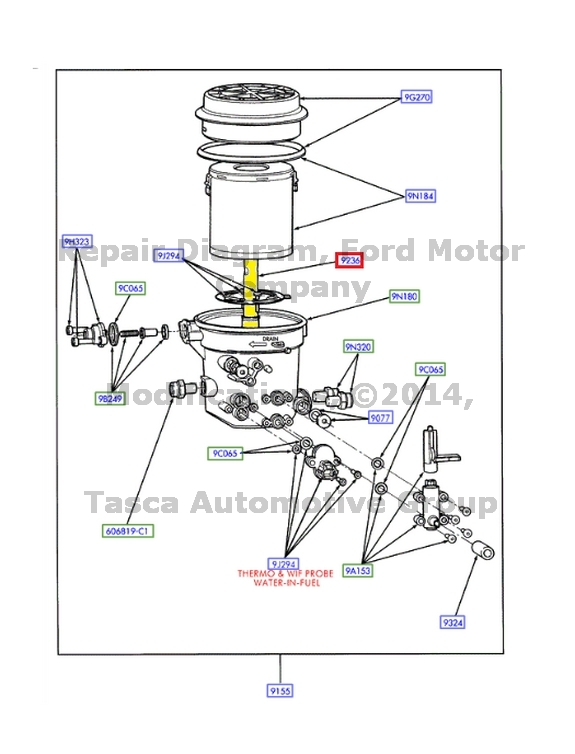 NEW OEM FUEL TANK FILTER HOUSING OUTLET TUBE 7.3L E-SERIES