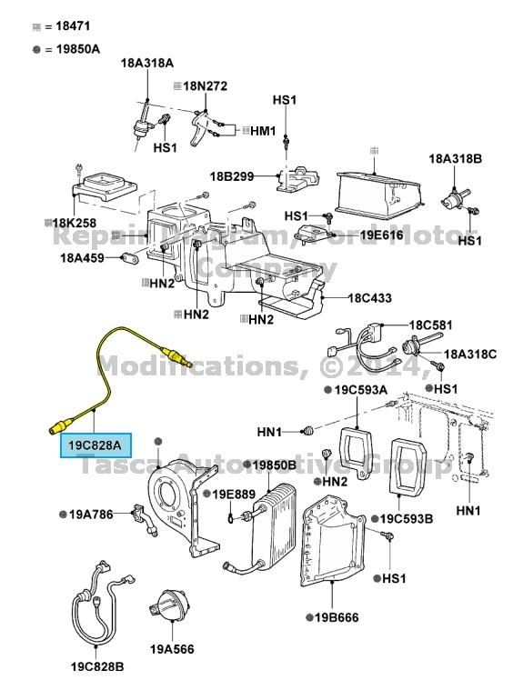 NEW OEM AC VACUUM TANK TO ENGINE HOSE 1998-2011 FORD