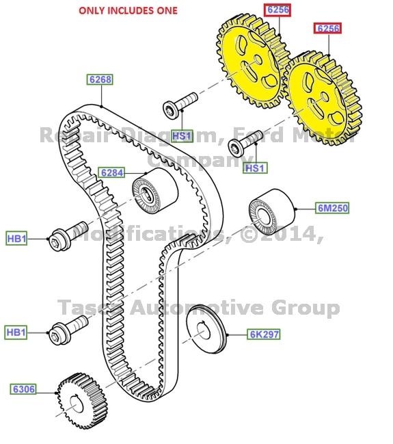 BRAND NEW OEM ENGINE CAMSHAFT DRIVE GEAR SPROCKET FORD