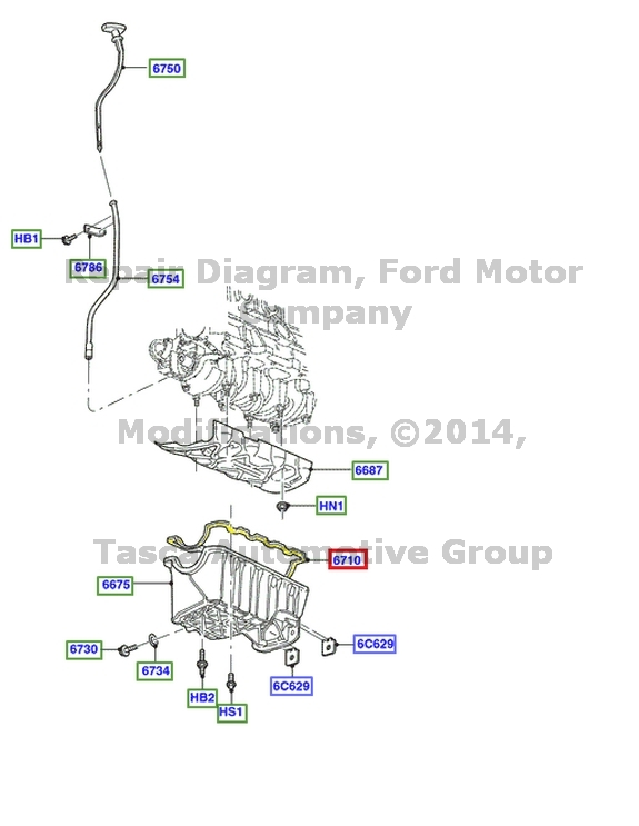 BRAND NEW OEM ENGINE OIL PAN GASKET 2.0L V4 FORD FOCUS
