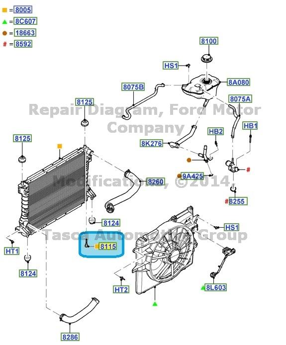 Brand New Oem Radiator Drain Plug Ford Lincoln Mercury