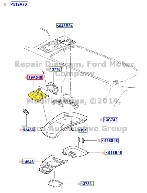 New Oem Front Overhead Console Comp Ford Explorer
