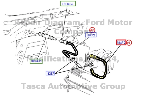 BRAND NEW OEM HEATER CORE INPUT HOSE FORD F150 EXPEDITION