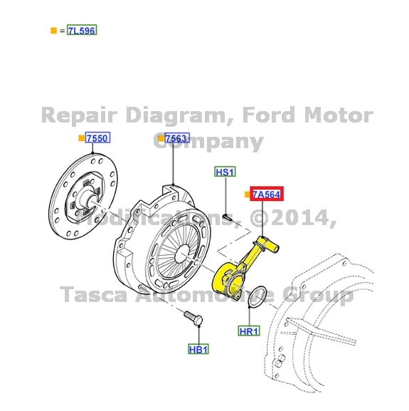 NEW OEM MANUAL CLUTCH RELEASE HUB & BEARING 2003-2011 2.0L