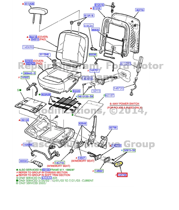 NEW-OEM-LH-FRONT-SEAT-LUMBAR-SWITCH-BEZEL-GRAND-MARQUIS-CROWN-VICTORIA-TOWN-CAR thumbnail 9