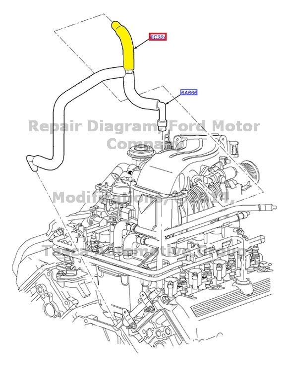 Buy Oem Ford F150 Harley Davidson Lightning Pcv Hose Valve 99 04