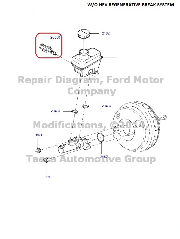 NEW OEM Brake Fluid Level Sensor For 2001-2012 Ford Escape
