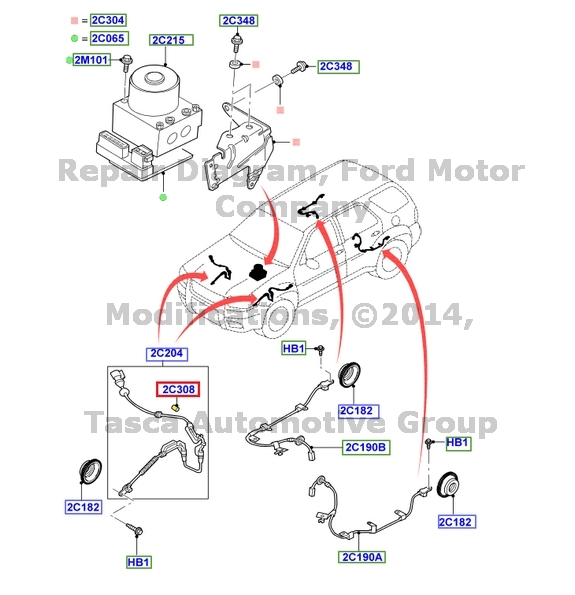 NEW OEM ANTILOCK BRAKE SYSTEM ABS WIRE CLIP    FORD       ESCAPE