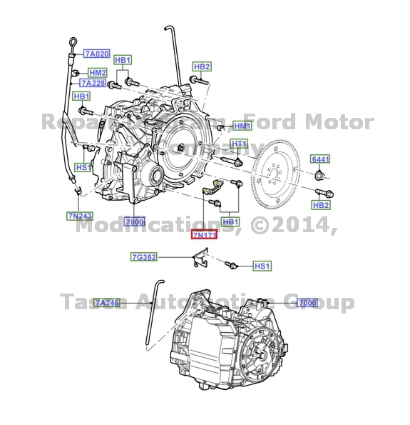 2014 ford escape transmission diagram