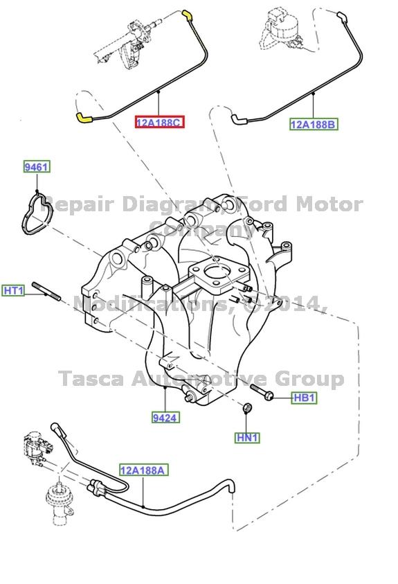 Brand New Oem Intake Manifold Vacuum Hose 2 0l V4 Engine