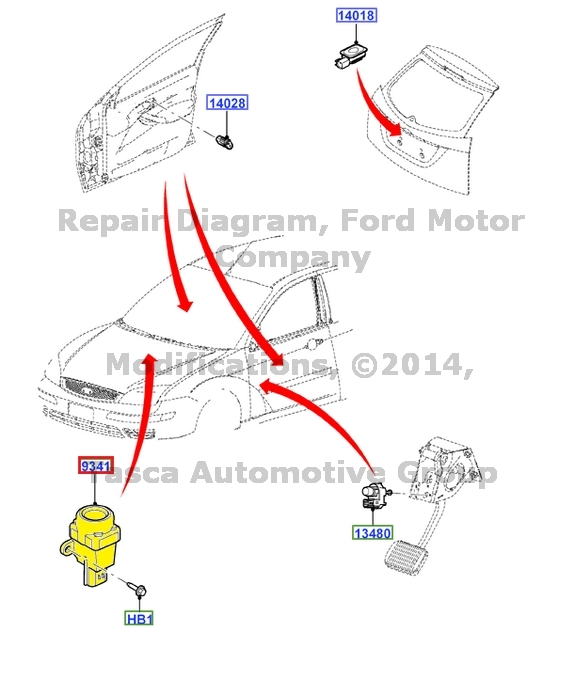 brand new oem fuel shut off switch 2000 - 2013 ford focus  ys4z - 9341