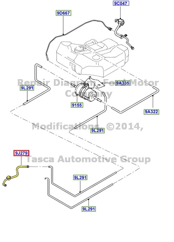 BRAND NEW OEM FUEL FEED HOSE LINE 2000-2004 FORD FOCUS 2