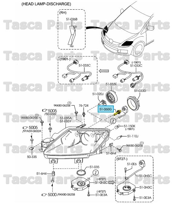 Buy Mazda 000011d2s Genuine Oem Factory Original Headlamp Bulb