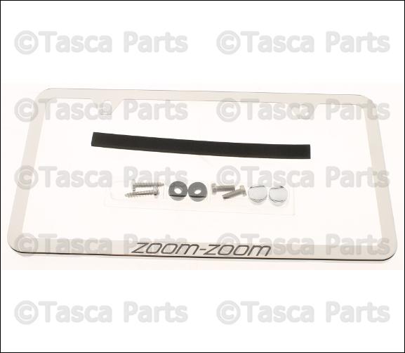 NEW OEM POLISHED Stainless Steel Zoom-Zoom Slimline License Plate ...