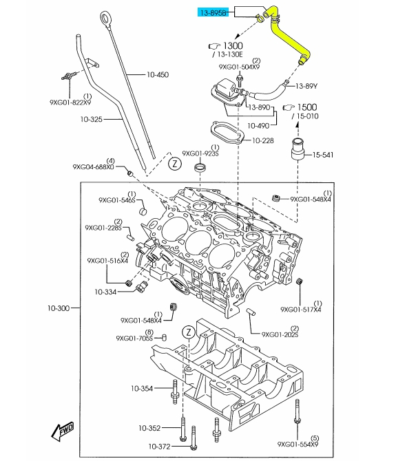 brand new oem surge tank pcv valve hose 2002