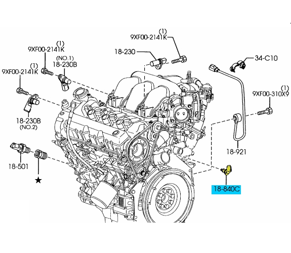 3 brand new oem engine coolant temperature sensor 2002 2011 mazda 6 02 mazda tribute engine wiring diagram at edmiracle.co