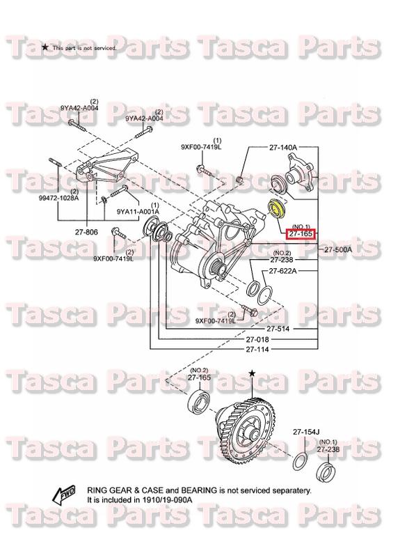 New Oem Front Differential Transfer Case Rear Oil Seal 200713 Rhebay: Mazda Cx 9 Suspension Schematic At Elf-jo.com