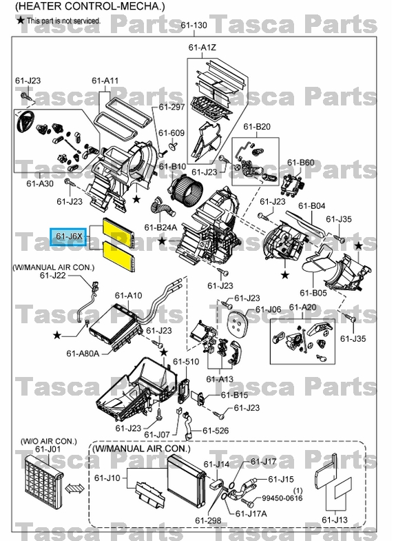 new oem front heater cooling unit filter element 10-13 mazda 3 w/ pollen
