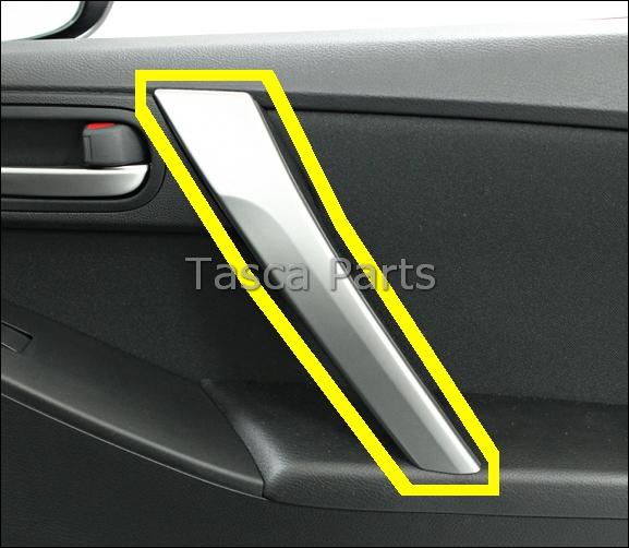 Brand new oem rh front door handle silver trim panel 2010 - 2010 mazda 3 interior door handle ...