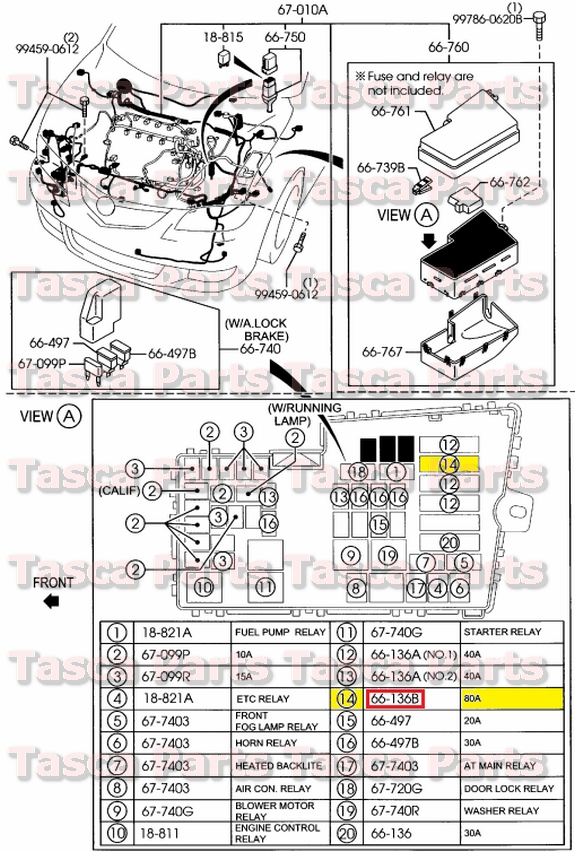 New oem wiring harness main block 80a fuse 2004 2009 mazda 3 2008 identifed in schematic if applicable cheapraybanclubmaster Image collections