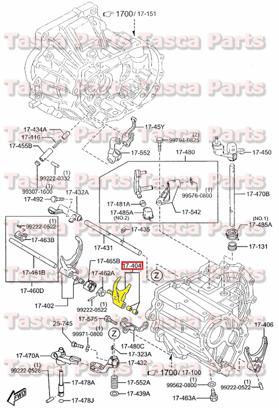 Fine New Oem Manual Transmission 3Rd 4Th Gear Shift Fork Mazda 2 Wiring Database Ittabxeroyuccorg