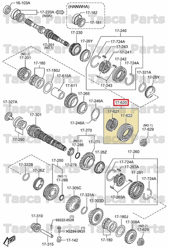 New Oem Manual Transmission 5th Reverse Clutch Hub Mazda 3 5 6