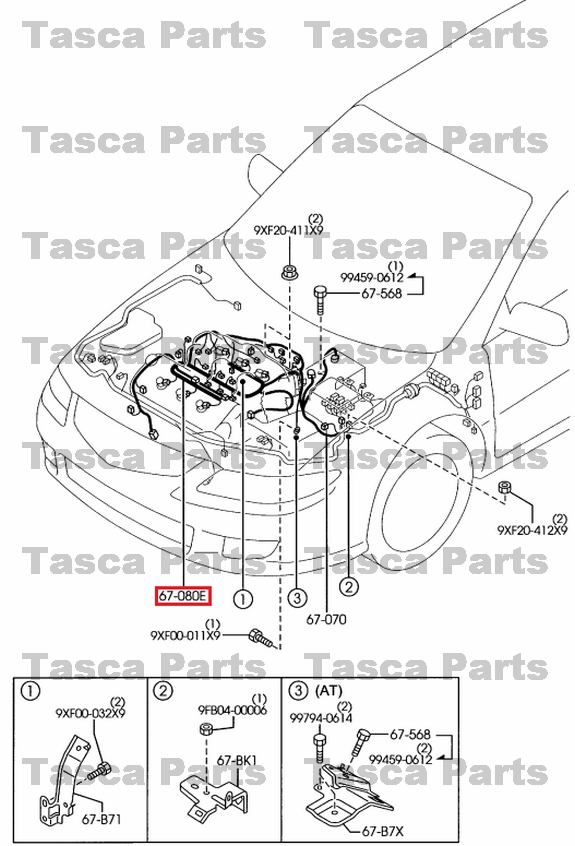 3?refresh new oem engine harness fuel injector wiring 3 0l 2003 2008 mazda 6  at bayanpartner.co