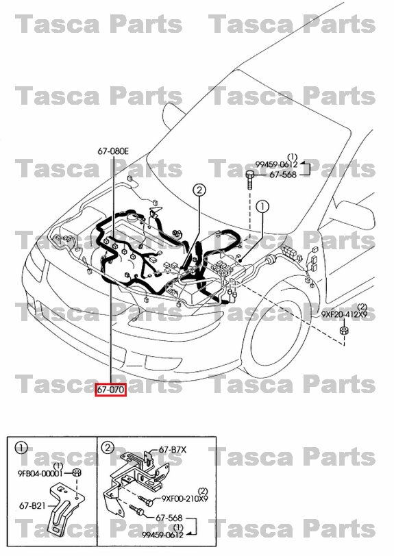 New Oem Engine Wiring Harness 23l 20062008 Mazda 6 W Automatic Rhebay: Mazda 6 Wiring Harness At Elf-jo.com