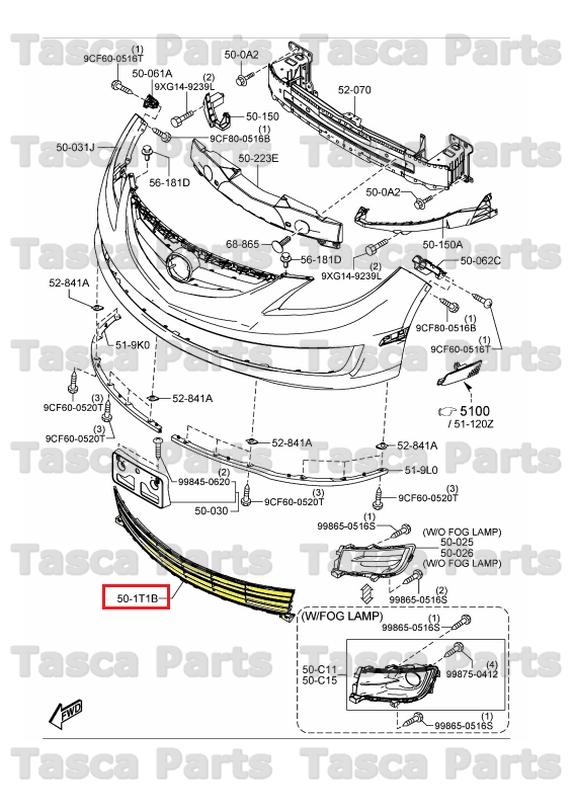 details about brand new oem black standard front bumper mesh 2009 2013 mazda 6 gs3n 50 1t1a 2003 Mazda 6 Parts Diagram